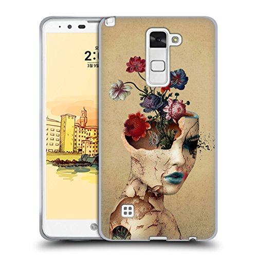 Head Case Designs Offizielle Riza Peker Gebrochene Schönheit Frau Soft Gel Huelle kompatibel mit LG Stylus 2