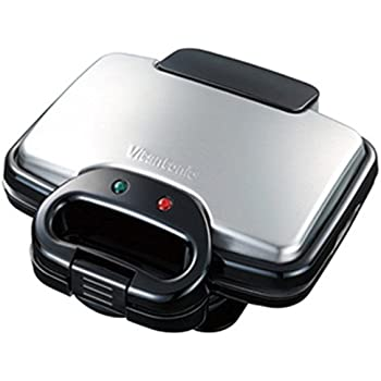 Vitantonio WAFFLE HOT SANDWICH BAKER Irons Black Color (Included 2 Plates)
