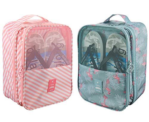 Bolsas de viaje portátiles para zapatos, impermeables, organizador de 3 pares de zapatos para hombres y mujeres