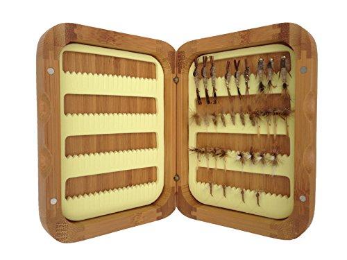 Turrall bamboe luik wedstrijd vissen vliegen selectie - 32 maart bruin vliegen