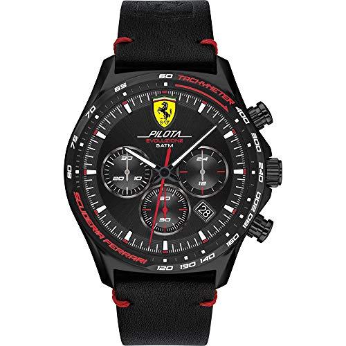 Scuderia Ferrari Reloj Analógico para Hombre de Cuarzo con Correa en Cuero 0830712