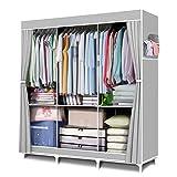 FUNFLOWERS Portable Wardrobe Storage Closet, Clothes Organizer...