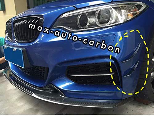 MAX AUTO CARBON Vollcarbon Echt Carbon Canards Flaps Frontspoiler passend für 1er 2er 3er 4er M2 M3 M4 M-Paket