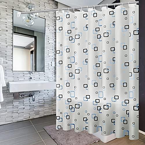Cortina de Ducha Impermeable, 200 x 200 cm Cortina de Ducha antimoho Cortina Bañera Cortina de Ducha para baño con 14 Ganchos, para Ducha o bañera en el hogar (2)