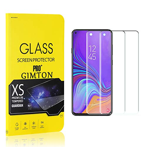 GIMTON Displayschutzfolie für Galaxy A8S, 9H Härte, Anti Bläschen Displayschutz Schutzfolie für Samsung Galaxy A8S, Einfach Installieren, 2 Stück