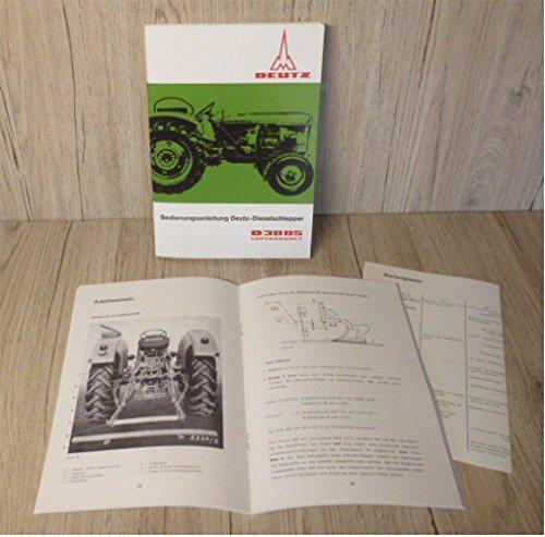 DEUTZ Betriebsanleitung Bedienungsanleitung Traktor D3005