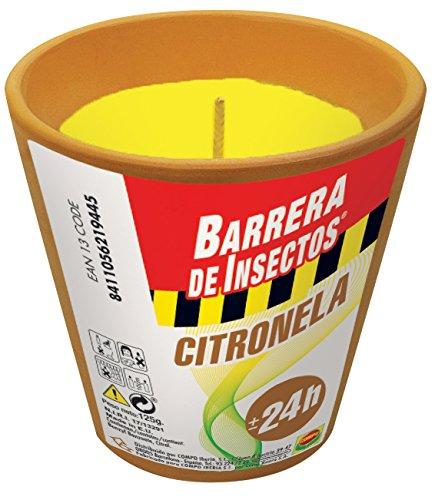 Compo Repelente Barrera de Insectos Vela de citronela antimosquitos, Perfumada, Terracota, hasta 24 h, ø 8,5 cm, 125 g