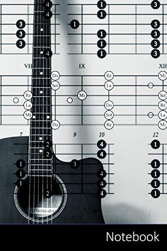 Notebook: Temática de la música portátil para niños y adultos. Acordes de la guitarra, guitarra, acordes, acordes Cuaderno / Diario / Libro de ... 22.86 cm), 150 páginas, superficie brillante.