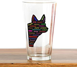 Blue Heeler Tribute Pint Glass,16 oz.Drinking Glass- Fun cool unique printing   suitable for bars,parties,barbecues
