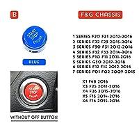 車の部品Bmw E90 E91 E92 E93 E60 E84 E83 E70 E71 F30 F15 F25 F10 F20 F01 G30 車スタイリング車のエンジンスタートボタンアクセサリー-B-Blue