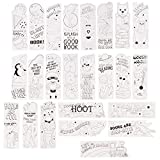 Juvale Color Your Own Bookmarks, Animal and Superhero Theme (24 Pack)