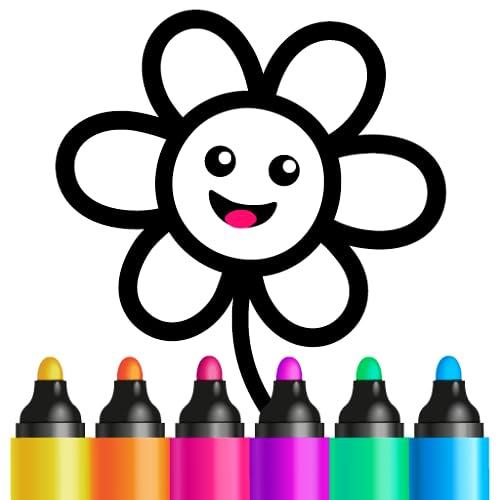 Zeichnen und Malen Spiele für Kleinkinder! Apps für Kinder ab 2 3 4 Jahre! Lernspiele Kindergarten für Mädchen und Jungen 5 6 Jahren! Vorschule Kinderspiele für schreiben Zahlen und Buchstaben Lernen