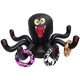 BESTOYARD Juego de anillos de araña hinchable, juego de Halloween, juguete hinchable, para fiestas, juegos, vacaciones, juguete