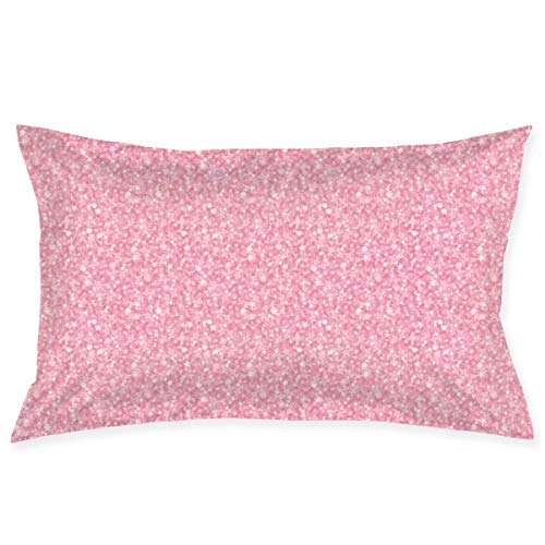 Tonicnc Pink Glitter And Sparkles Pattern Pillows 20inch*30inch Custom Pillow Case Cushion Cover White One Size