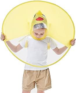 Old Tjikko Kids Raincoat, Children's Cloak, Hooded Poncho Packable Cartoon Umbrella for Baby Boys Girls