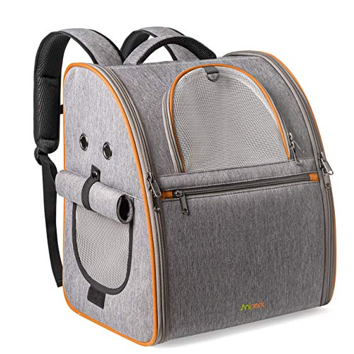 Anipark Haustier Rucksack Katzen Hunde Reisetasche mit luftdurchlässigem Netz für Auto, Flugzeug, Pendeln und Wandern, PT01001