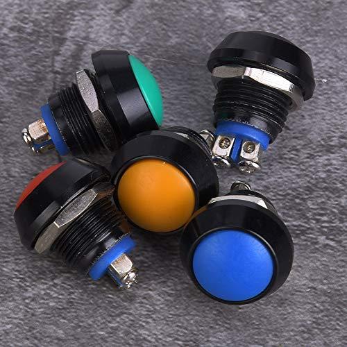 Interruptor de botón negro, botón de nivel de protección material de calidad de metal