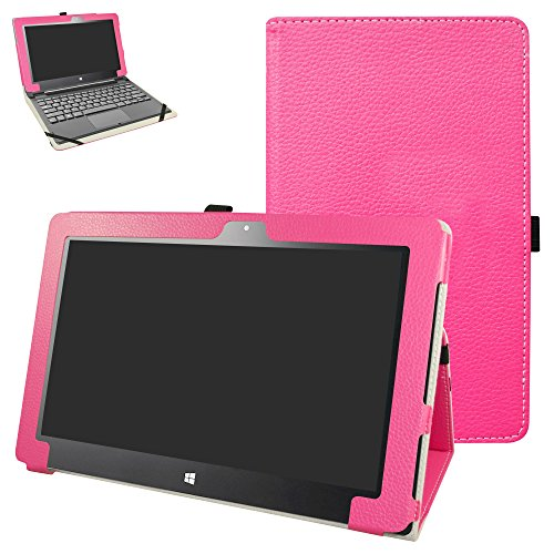 "Insignia Flex 11.6 NS-P11W6100 Case,Mama Mouth PU Leather Folio 2-Folding Stand Cover for 11.6"" Insignia Flex 11.6 NS-P11W6100 Windows 10 Tablet,Rose Red"
