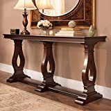 Wood Art Interior Living Room Wooden Console Table | Teak Wood sangwan | Polish Color | Light Brown