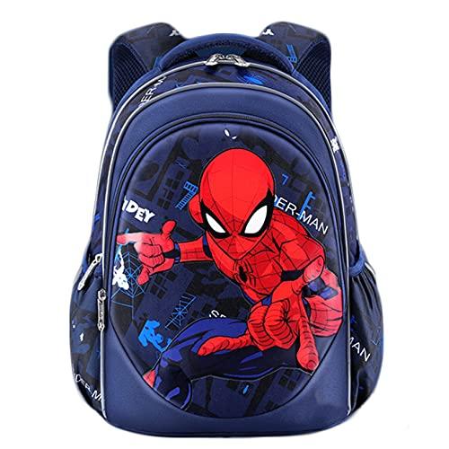 Hflyy Niños Avengers Mochilas Niñas Superhéroe Mochilas Bolsa Viaje Casual Aire Libre Niños Almuerzo Kit Picnic Mochilas Escolares Mochilas Impermeables Estudiantes Unisex,Spiderman -32 * 21 * 39cm