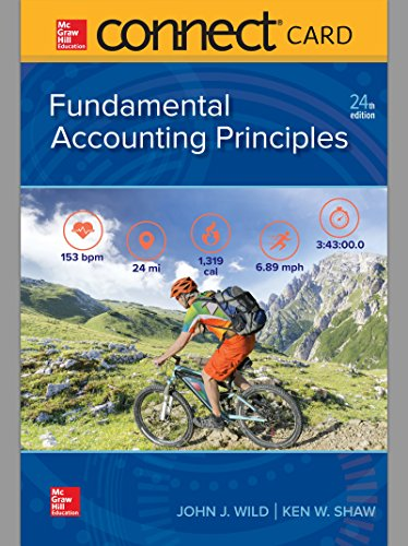 Compare Textbook Prices for Connect Access Card for Fundamental Accounting Principles 24 Edition ISBN 9781260158526 by Wild, John