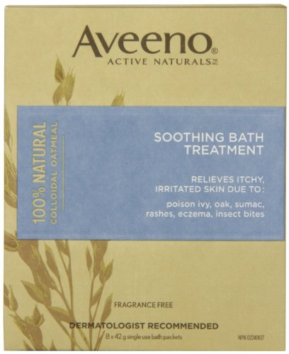 Aveeno Soothing Bath Treatment, 8 Count (Pack of 2)
