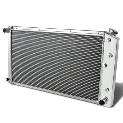 Full Aluminum 3-Row Racing Engine Cooling Radiator Compatible with 1968-1990 GM Engine Models, Core 28 X 17 X 2.5 Inches