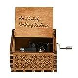 Syfinee Vintage Music Box Engraved Wooden Hand Crank Music Box Mom Dad Love Birthday Gift Carillon a Manovella in Legno Vintage Scatola Musicale Music Box Decorazione Regalo per Compleanno Natale