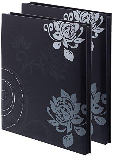 2er Pack - Einsteckalbum Grindy, schwarz, 400 Fotos 10x15 cm