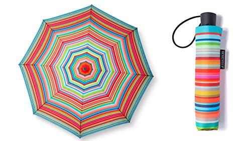 Remember | RS10 | Taschenschirm | 'Stripes' | stabiler Regenschirm für die Tasche | Bunt | 58 cm x 100 cm