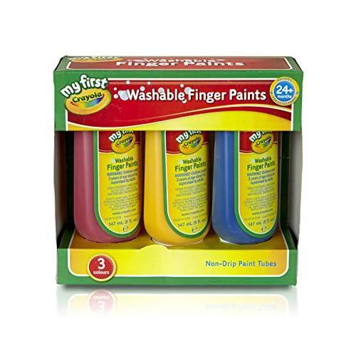 Crayola Kit di 3 Colori a Dita, per Bambini