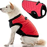 Gooby Fashion Dog Vest - Red, Large - Small Dog Sweater Bomber Dog Jacket Coat with D Ring Leash and Zipper Closure - Dog Clothes for Small Dogs Girl or Boy for Indoor and Outdoor Use