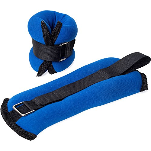 Tone Fitness Women's HHA-TN002 Ankle/Wrist Weights, Pair, Blue/Black, 1 Lb