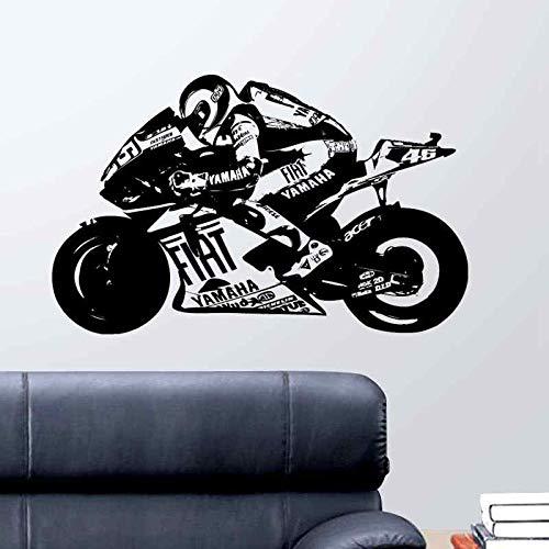 Tianpengyuanshuai Course Moto Course Autocollant véhicule décalcomanie Affiche Vinyle décoration Murale Peinture Murale Autocollant Moto Course décalcomanie87X138 cm
