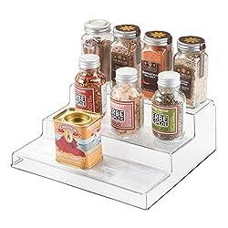 small acrylic stepped shelf riser