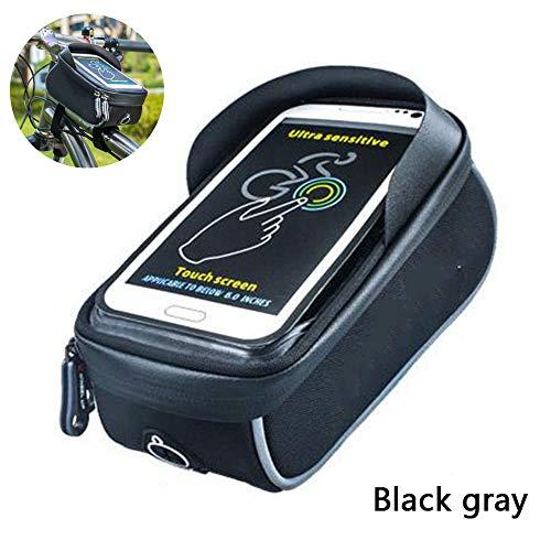 DASGF Riding Tube Pack met mobiele telefoon met zonnescherm voor fiets, fietsframe, waterbeveiliging, slijtvast, gevoelig touchscreen