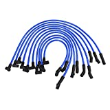 JDMON Compatible with High Performance Spark Plug Wire Set Ignition Wire Ford F-150 F150 Mustang 5.0L 5.8L SBF 302 Blue line