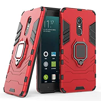 Cocomii Black Panther Ring Xiaomi Redmi Note 4/Note 4X Case Slim Thin Matte Vertical & Horizontal Kickstand Ring Grip Drop Protection Bumper Cover Compatible with Xiaomi Redmi Note 4/Note 4X  Red