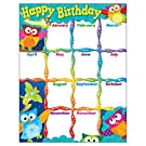 "TREND enterprises, Inc. Happy Birthday Owl-Stars! Learning Chart, 17"" x 22"""