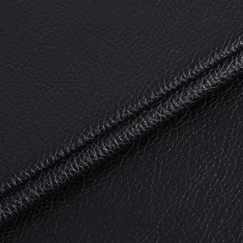 ZXC 138 cm de Ancho Venta De Polipiel por Metros Tejido De Piel SintéTica por Tapizar,Polipiel,Manualidades,Vinilo,Cojines o Forrar Objetos 1m Vendido por Metro(Color:Negro)
