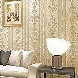 Vliestapete Stripes Tapete Vliestapete 3D klassisch barock Stereo Damascus Stripe Beige Wand...