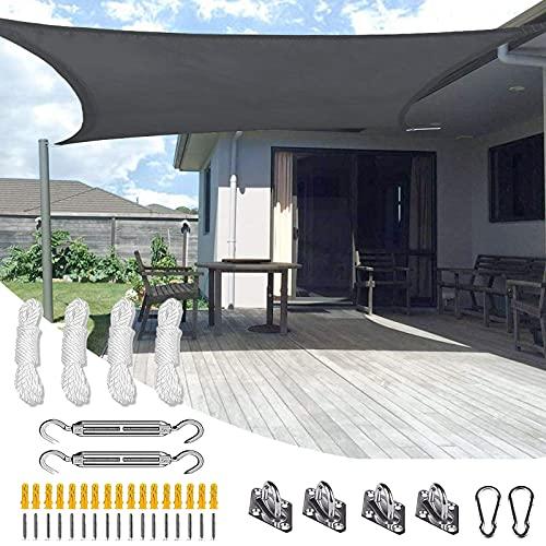 PYapron Tende da Sole per Esterno, Tenda a Vela 3x5 M Rettangolare, Telo da Sole in Polyster Oxford, Vele Ombreggianti Impermeabili Protezione UV per Terrazzo Balconi Giardino e Outdoor,#4