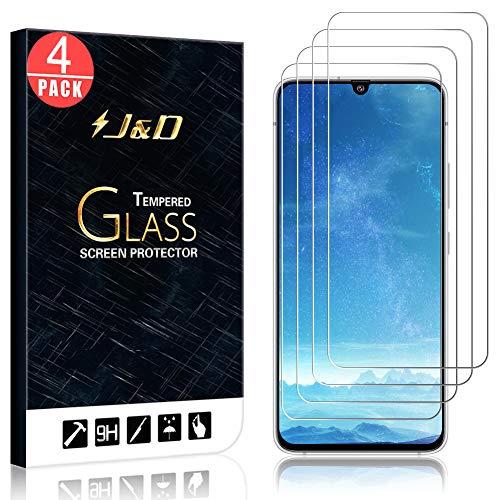 JundD Kompatibel für Samsung Galaxy A90 5G Panzerglas Schutzfolie, 4 Packungen [Vorgespanntes Glas] [Nicht Ganze Deckung] Glas Bildschirmschutz für Galaxy A90 5G Panzerglas Bildschirmschutzfolie