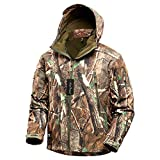 NEW VIEW Hunting Clothes for Men,2020 Upgrade Thickened Silent Water Resistant Hunting Jackets,Camo Hooded Jacket (Thick Tree, M)