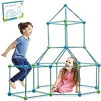 【Kit de construction de fort premium】 Nos kits de tente DIY permettent à votre enfant de construire des forts de toutes formes et tailles (toile de tente non incluse), avec cet ensemble de fort de construction qui comprend 54 bielles et 31 sphères à ...