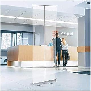 Roll up BannièRe Enroulable, éCran De Distance Sociale PVC Transparent, Protection Anti-Broche, éCran, Pare-éTernuement, M...