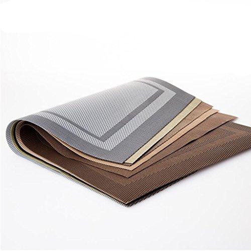 Tischsets Xuan - Worth Having Western-Pad PVC Anti-Rutsch-Esstisch Isolierung Tischmatten können Gewaschen Werden grün Vier Geladen (45 * 30 cm) (Farbe : Braun)