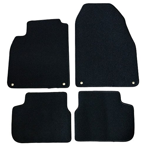 Floor Mat Compatible With 2003-2011 Saab 9-3 | Factory Fitment Floor Mats Carpet Front & Rear Black 4PC Nylon by IKON MOTORSPORTS | 2004 2005 2006 2007 2008 2009 2010