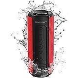 Tronsmart T6 Plus 40W Wireless Outdoor Bluetooth Lautsprecher 5.0 mit Tri-Bass-Effekten, Powerbank, TWS Stereo Sound, wasserdichtes IPX6, 15-Stunden Spielzeit, Sprachassistent und Mikrofon - Rot