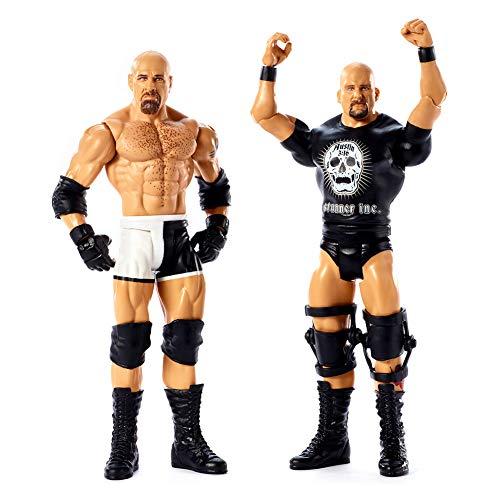 WWE GBN62 - Basis Actionfiguren 2er Pack Goldberg und Stone Cold Steve Austin, Actionfiguren ab 6 Jahren